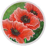 Round Beach Towel featuring the painting Watermelon Wonderment by Amy E Fraser