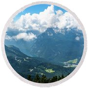 Round Beach Towel featuring the photograph Watzmann And Koenigssee, Bavaria by Andreas Levi