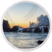 Wave Burst Round Beach Towel