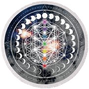Round Beach Towel featuring the digital art We Are Beings Of Light by Bee-Bee Deigner