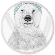 We Can Do It Round Beach Towel