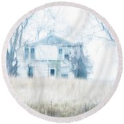 Round Beach Towel featuring the photograph Weathered by Melissa Lane
