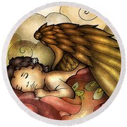 Heaven's Little One Round Beach Towel
