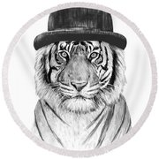 Welcome To The Jungle Round Beach Towel