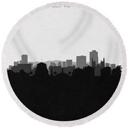 Wellington Cityscape Art Round Beach Towel