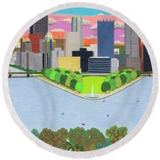 West End Overlook Round Beach Towel