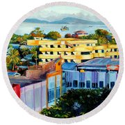 Western Part Of Sorong Town Round Beach Towel