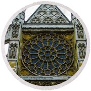 Westminster Abbey 2 Round Beach Towel