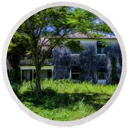 Round Beach Towel featuring the photograph Westmoreland Plantation by Stuart Manning