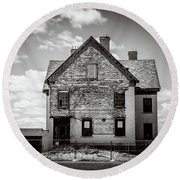 Round Beach Towel featuring the photograph What Remains by Steve Stanger