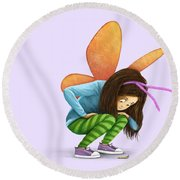 What Will You Be? Round Beach Towel