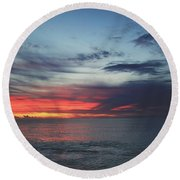 What's In Your Heart Round Beach Towel