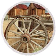 Wheels And Spokes In Color Round Beach Towel