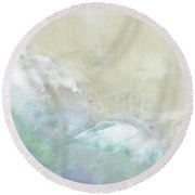 Where Sea Meets Shore Round Beach Towel