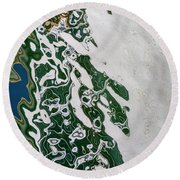 Whimsical Reflection Round Beach Towel