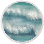 Whispering Waves Round Beach Towel