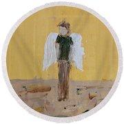 Whistling Angel Round Beach Towel