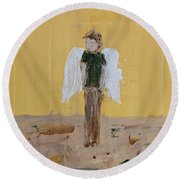 Whistling Angel Round Beach Towel