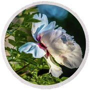 White Petals #i4 Round Beach Towel