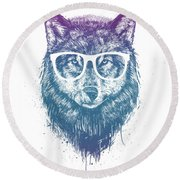 Who's Your Granny? Round Beach Towel