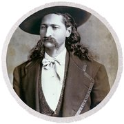 Wild Bill Hickok  1873 Round Beach Towel