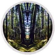 Wild Forest #1 Round Beach Towel