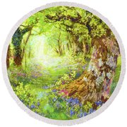 Wildflower Delight Round Beach Towel