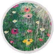 Wildflowers- Art By Linda Woods Round Beach Towel