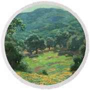 Wildflowers In Bloom Round Beach Towel