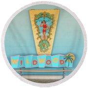 Wildwood Days Round Beach Towel