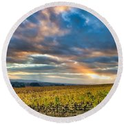 Willamette Valley In Fall Round Beach Towel