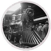 William Crooks 4-4-0 Steam Locomotive Round Beach Towel