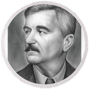 William Faulkner Round Beach Towel