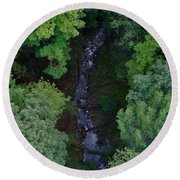 Willow Run Creek Round Beach Towel