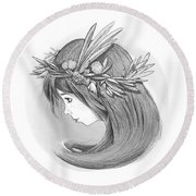Willow's Whispers Round Beach Towel