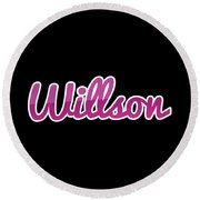 Willson #willson Round Beach Towel