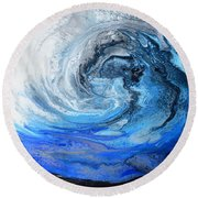 Wind And Wave Round Beach Towel