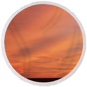 Round Beach Towel featuring the photograph Windmill And Afterglow 03 by Rob Graham