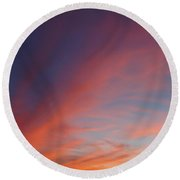 Round Beach Towel featuring the photograph Windmill And Afterglow 05 by Rob Graham