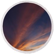 Round Beach Towel featuring the photograph Windmill And Afterglow 06 by Rob Graham