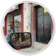 Round Beach Towel featuring the photograph Window Shopping  by Rosanne Licciardi