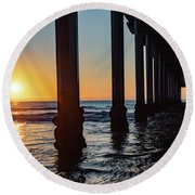 Window Under Scripps Round Beach Towel