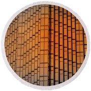 Windows Mosaic Round Beach Towel