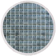 Windows Pattern Modern Architecture Round Beach Towel
