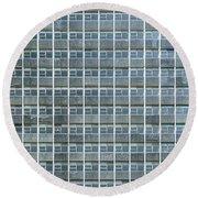 Windows Pattern Modern Architecture Round Beach Towel