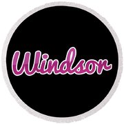 Windsor #windsor Round Beach Towel