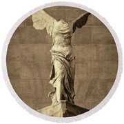 Winged Victory Of Samothrace - #10 Round Beach Towel