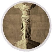 Winged Victory Of Samothrace - #10a Round Beach Towel