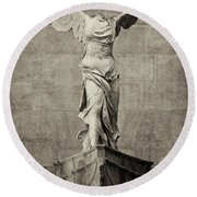 Winged Victory Of Samothrace - #12 Round Beach Towel