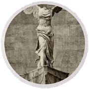 Winged Victory Of Samothrace - #14 Round Beach Towel